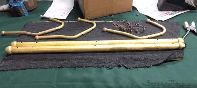 Wall Hook Triple - Brass Hook Bar | Brass Hook Racks | Coat Hook Rack | Wall Mounted Coat Racks | Decorative Hook Racks | Tie Rack | Solid Brass Hook Racks | Modern Hook Rack | Hat and Coat Hooks | Brass Hooks | Brass Hardware | SignatureThings.com
