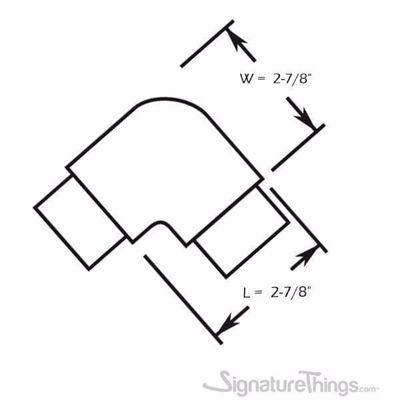 """SignatureThings.com Brass Hardware Flush Radius Elbow for 1-1/2"""" Diameter Tubing"""