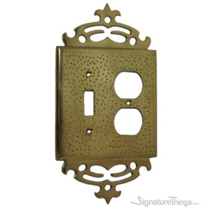 Classic Switch Plate - Hammered with Top Design Combination