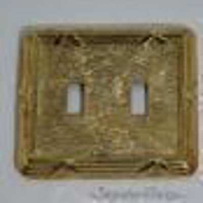 Double toggle switch plate - Reed and Ribbon Double - Brass Switch Plates | Classic Switch Plates | Vintage Switch Plates | Light Switch Covers | Decorative Wall Switch Plates | Combination Wall Plates | Vintage Light Switch Covers | Antique Brass Switch Cover Plate |Unique Light Switch Covers | Double Toggle Switch Plate | Single Toggle Switch Plates | Electrical Outlets & Receptacle | Brass Hardware | SignatureThings.com
