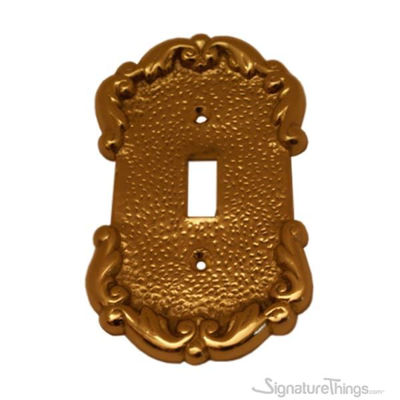 French Design Switch Plate - Single toggle switch plate