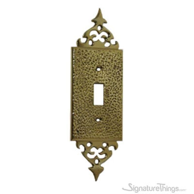 Hammered with Top Design - Single toggle switch plate