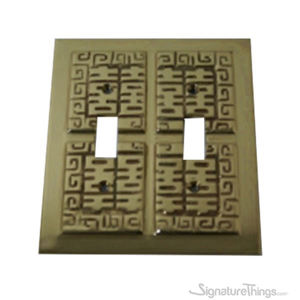 Oriental Switch Plate - Double toggle switch plate