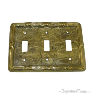 Oriental Switch Plate - Triple toggle switch plate