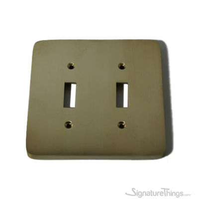 Modern Rounded Corners - Double toggle switch plate