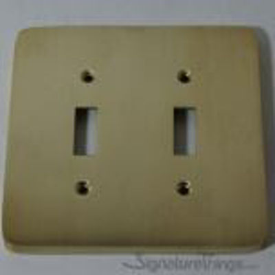Modern Rounded Corners - Double toggle switch plate - Brass Switch Plates | Modern Switch Plates | Decorative Wall Switch Plates | Light Switch Covers | Modern Wall Plates | Combination Wall Plates | Single Duplex Cover Plates |