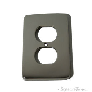 Modern Rounded Corners Receptacle - single duplex switch plate