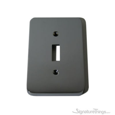 Modern Rounded Corners Single - single toggle switch plate
