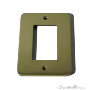 Modern Rounded Corners Single Decora - single cover brass plate