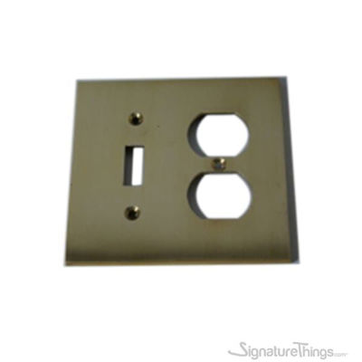 Modern Square Switch Plate Combination - Combo Toggle Switch Plates