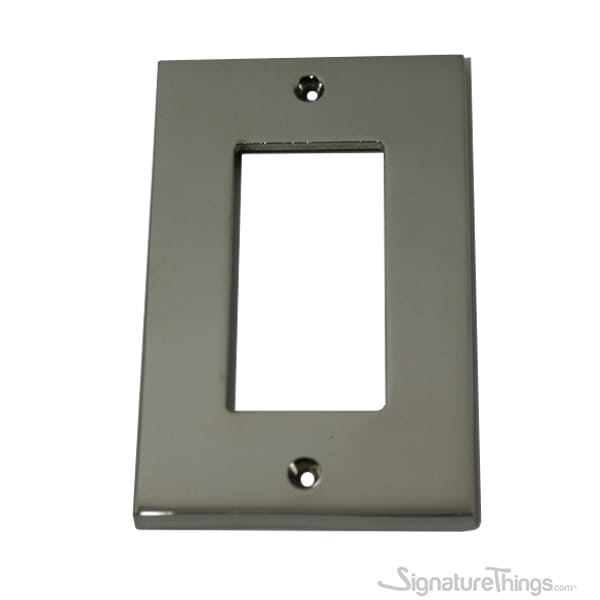 Modern Square Switch Plate Decora - GFI cover plate - Brass Switch Plates | Modern Switch Plates | Decorative Wall Switch Plates | Light Switch Covers | Modern Wall Plates | Combination Wall Plates | Single Duplex Cover Plates |