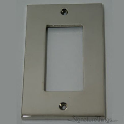 Modern Square Switch Plate  Decora - Brass Switch Plates | Modern Switch Plates | Decorative Wall Switch Plates | Light Switch Covers | Modern Wall Plates | Combination Wall Plates | Single Duplex Cover Plates |
