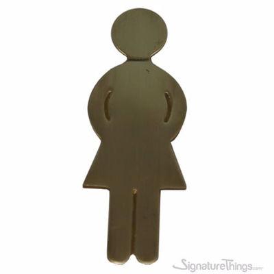 SignatureThings.com Brass Hardware Female Figure Restroom Sign