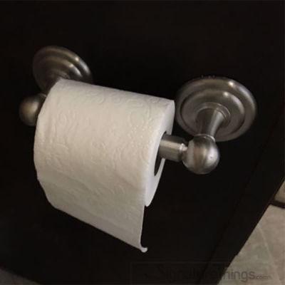 SignatureThings.com Brass Hardware Toilet Paper Holder