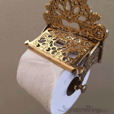 SignatureThings.com Brass Hardware Victorian Toilet Paper Holder