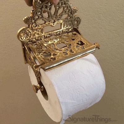 Victorian Toilet Paper Holder | vintage toilet paper holder | Tissue Paper Holder | Toilet Paper Storage | Brass Toilet Paper Holder | Recessed Toilet Paper Holder | Toilet Tissue Holder |  Bathroom Accessories | Bathroom Hardware | Modern Bath Accessories | Brass Hardware |  SignatureThings.com
