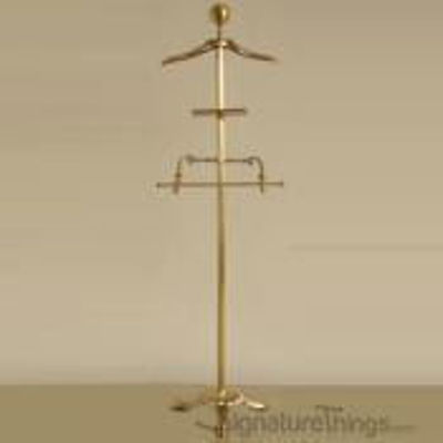 SignatureThings.com Brass Hardware Garment Floor Stand