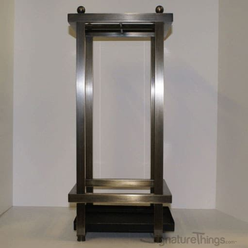 Modern Square Tube Umbrella Stand - Brass Umbrella Stand | Metal Umbrella Stand | Umbrella Stand and Bases | Brass Hardware | SignatureThings.com