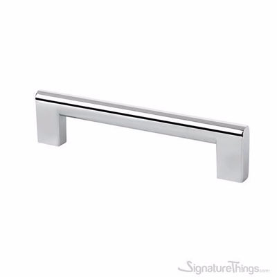 Modern Stainless Steel Flat Cabinet Edge Pull Handle -128mm