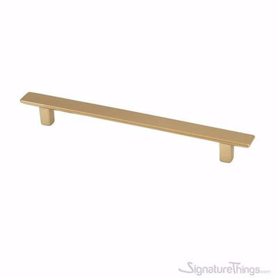 SignatureThings.com Brass Hardware Matte Brass long thin rectangular pull