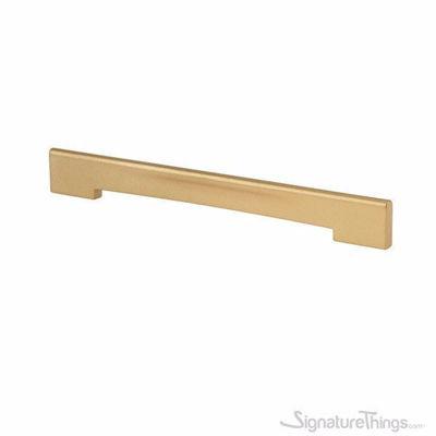 SignatureThings.com Brass Hardware Matte Brass Medium Size Profile Pull