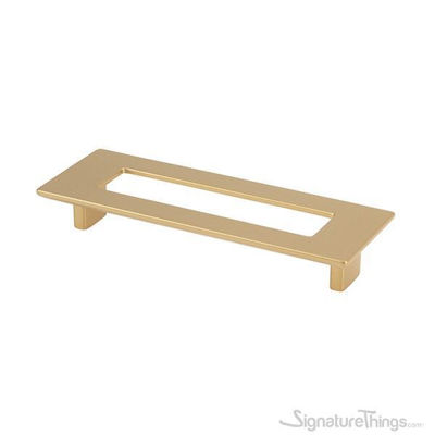 SignatureThings.com Brass Hardware Matte Brass rectangular pull with hole