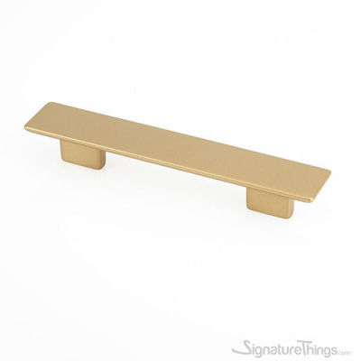 Matte Brass small rectangular pull - Cabinet Handles and Drawer Pulls