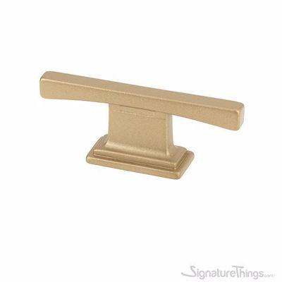 Matte Brass T Shaped Cabinet Knobs