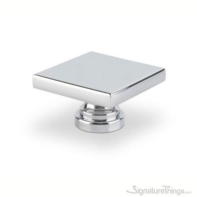 SignatureThings.com Brass Hardware Medium Square Cabinet Knob