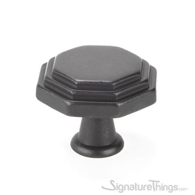 SignatureThings.com Brass Hardware Octagon Cabinet Knob