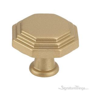 Matte Brass Octagon cabinet knob