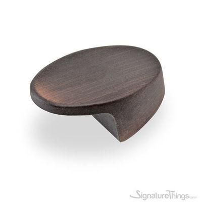 Dark Bronze Oval Flat Top Drawer Knob