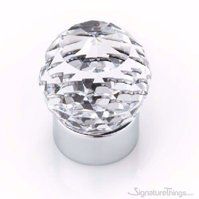 25mm Round Swarovski Crystal Cabinet Knob