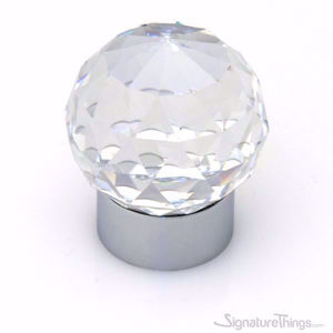 30mm Round  Swarovski Crystal Cabinet Knob