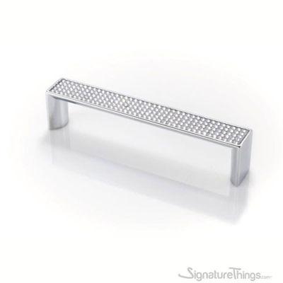 SignatureThings.com Brass Hardware Round Swarovski Crystal Pull