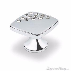 Small Corner Crystals Square Cabinet  Knob