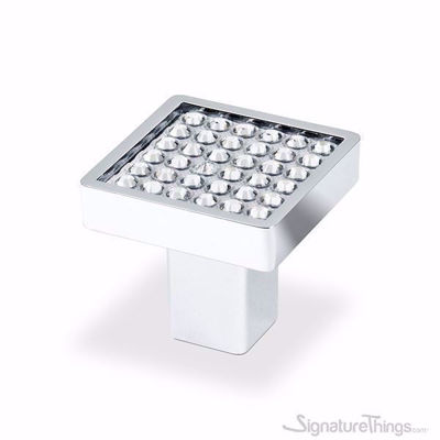 Round Crystal Small Square Cabinet Knob