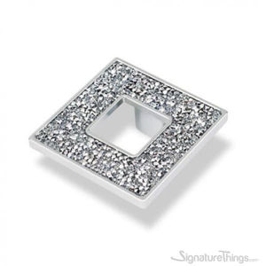 Square Crystal Cabinet Pull with Hole, Cabinet Handles and Drawer Pulls