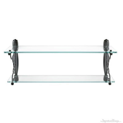 Wall Mounted Double Glass Bath shelf