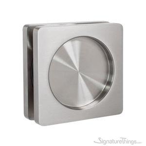 Modern Stainless Steel Square Flush Glass Door Pull Handle