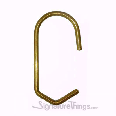 Brass Shower Curtain Rings Set of 12