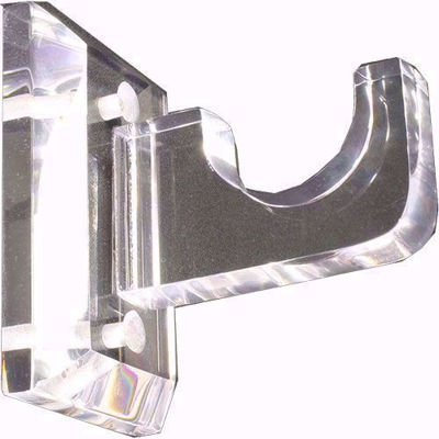 Lucite Acrylic Center Bracket | Lucite Closet Rod Support | Curtain Rod Supports | Brass Drapery Hardware | SigntureThings.com