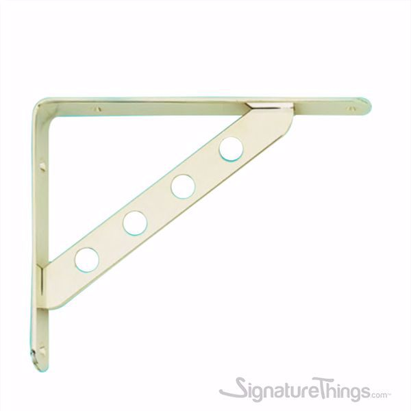 Stainless Steel L Brackets, Heavy Duty Shelf Brackets, Gold-Chrome, Matte Nickel, Nickel Plated - Heavy Duty Shelf Brackets | Adjustable Shelf Brackets | Brass Shelf Brackets | Decorative Shelf Brackets | Metal Shelf Brackets | Floating Shelf Brackets | Brass L Brackets | L Shelf Brackets | Solid Brass Brackets | Modern Shelf Bracket | Closet Shelf Brackets | Brass Hardware | SignatureThings.com