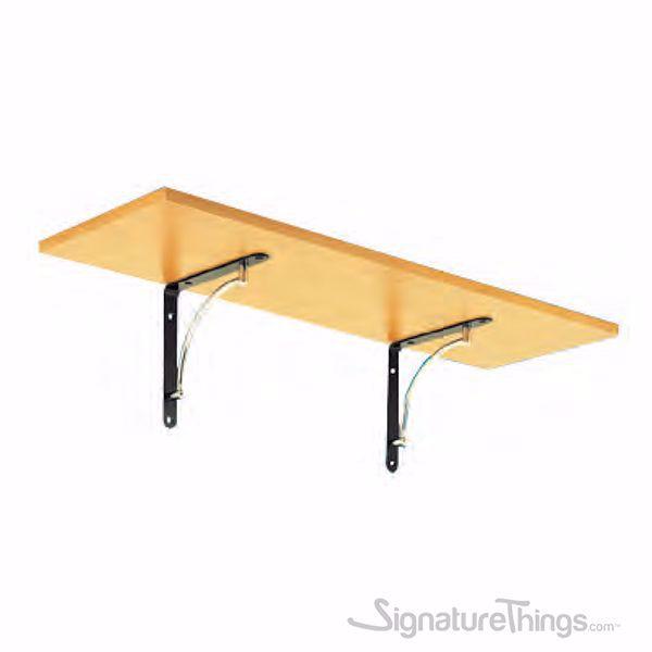 Stainless Steel Shelf Brackets Heavy Duty - Gold, Matte Nickel,  Black-Chrome Finish