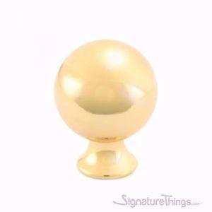 Round Ball Cabinet Knob - Chrome and Gold Finish
