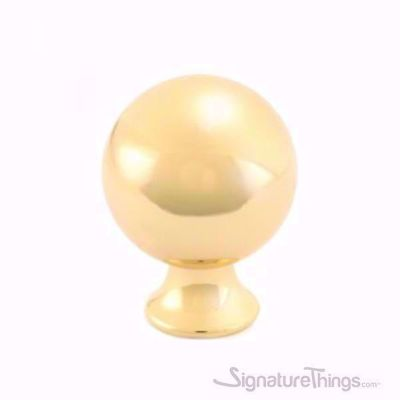 Round Ball Cabinet Knob - Chrome and Gold Finish