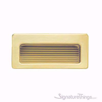 Modern Brass Rectangular Flush Door Pull Handle