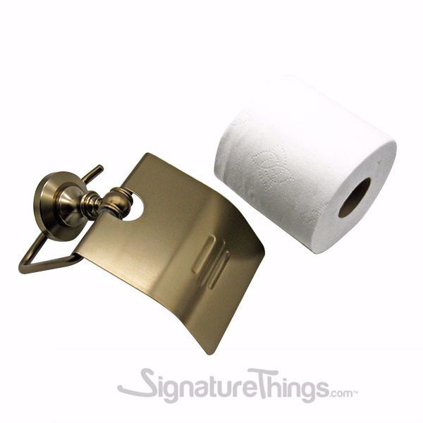 SignatureThings.com Brass Hardware Wall Mounted Bathroom Toilet Paper Holder