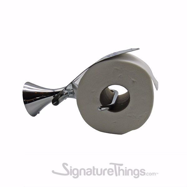 SignatureThings.com Brass Hardware Stainless Steel Cover Toilet Paper Holder