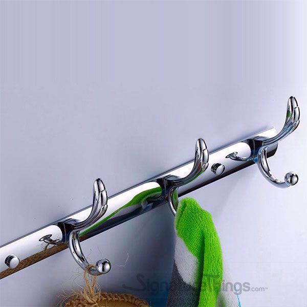 "15"" Wall Mounted Hook Racks - Towel and Robe Hooks For Bathroom, Coat and Hat Hooks"